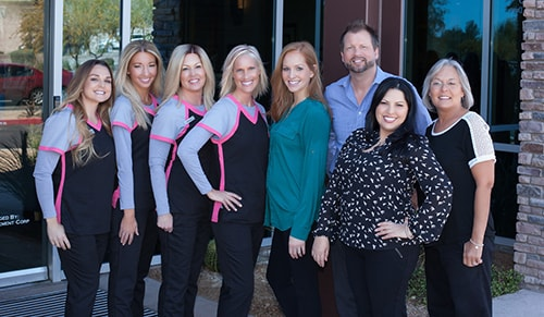 Dr. Lewandowski and his Scottsdale dental team