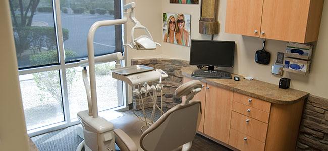 Photo of Princess Dentistry in Scottsdale's Dental Operatory