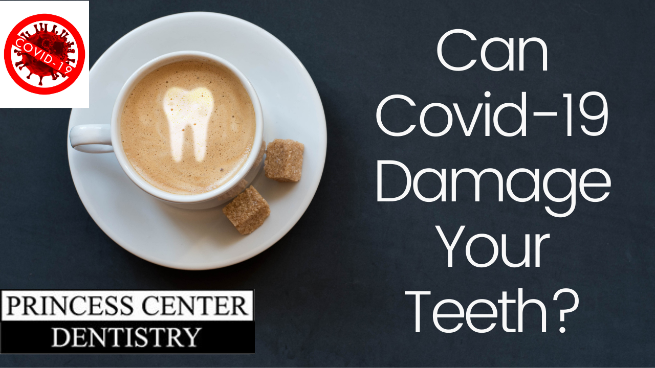 coffee cup with tooth.