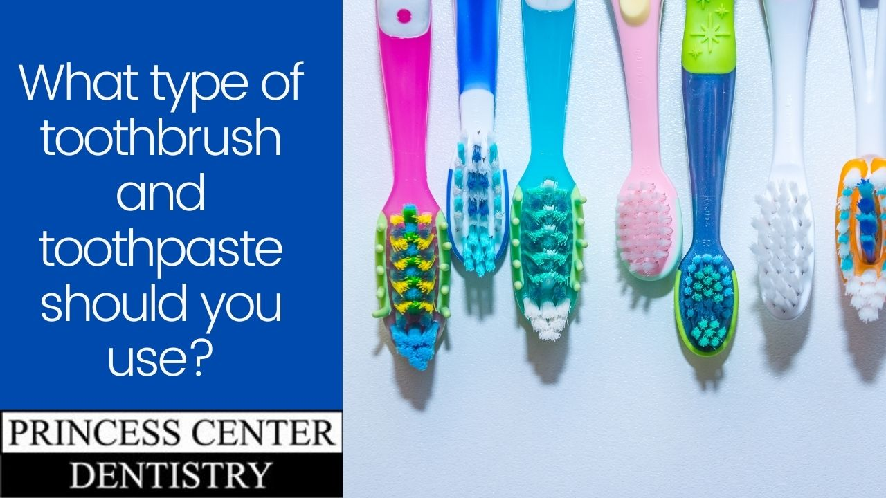 Multiple types of toothbrushes
